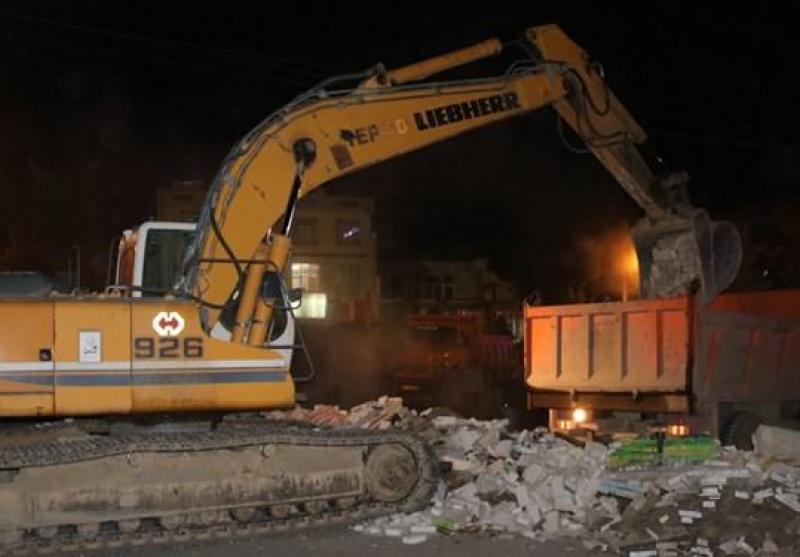 عملیات تعریض خیابانهای مولوی، فلسطین و پاسداران در سنندج آغاز شد