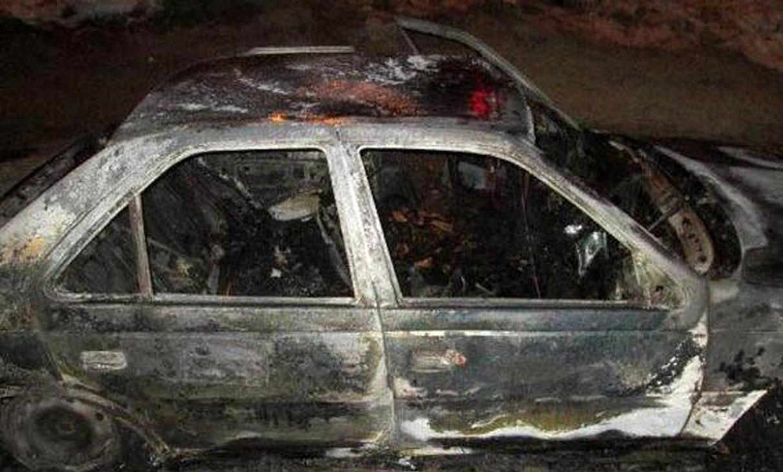 واژگونی و آتش سوزی یک دستگاه خودروی 405 در محور کهورستان بستک